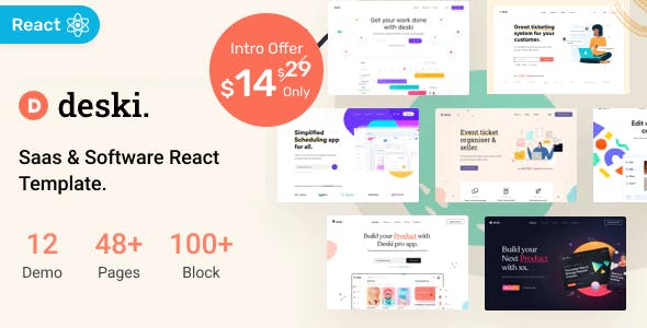 Deski - Saas & Software React Template