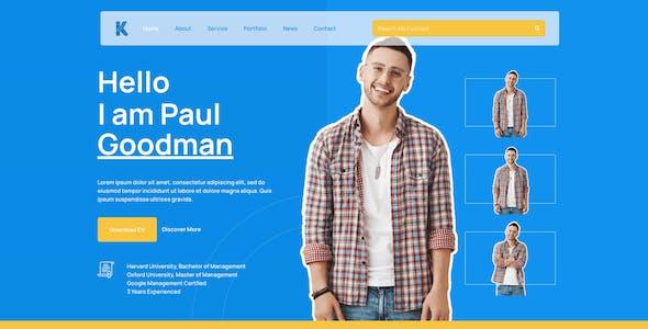 Goodman - Creative Portofolio Elementor Template Kit