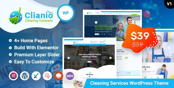 Clianio – Laundry, Dry Cleaning Services WordPress Theme - Business Corporate