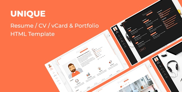 Unique Resume Template - Virtual Business Card Personal