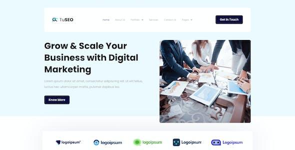 TuSEO - Digital Marketing Agency Elementor Template Kit