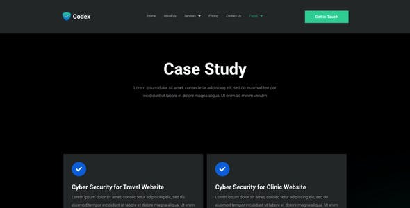 Codex - Cyber Security Elementor Template Kit