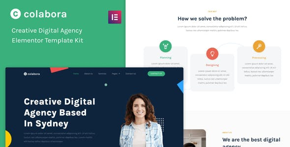 Colabora - Creative Digital Agency Elementor Template Kit