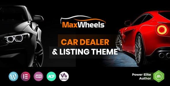 Maxwheels - Car Dealer Automotive & Classified Multivendor WordPress Theme
