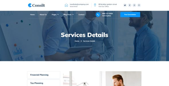 Consilt - Business & Consulting Elementor Template Kit