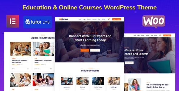 Omexo - Education & Online Courses WordPress Theme - Education WordPress