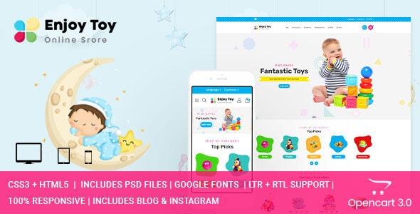 Enjoy - Kids Clothing & Toys Opencart Theme - Shopping OpenCart