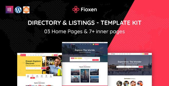 Fioxen - Travel Directory & Listings Elementor Template Kit