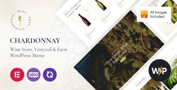 Chardonnay - Wine Store & Vineyard WordPress Theme