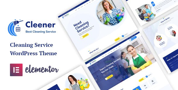 Cleener - Cleaning Services WordPress Theme