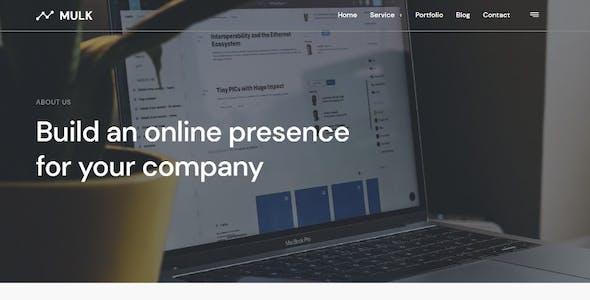 Mulk - Digital Agency Elementor Template Kit