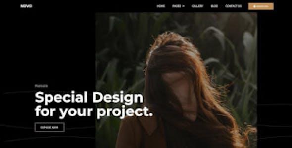 Novo - Photography Elementor Template Kit