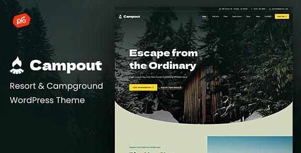 Campout - RV Resort & Campground WordPress Theme