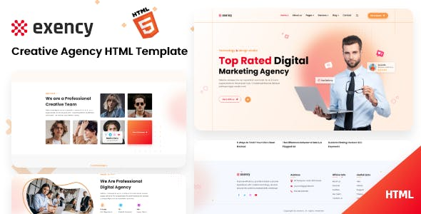 Exency - Marketing Agency Html5 Template