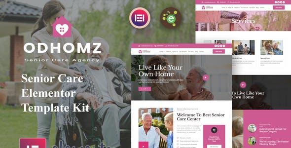 Odhomz - Senior Care Elementor Template Kit
