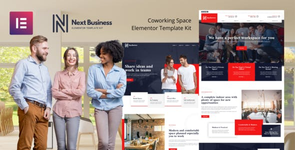 Next Business - Coworking Space Elementor Template Kit