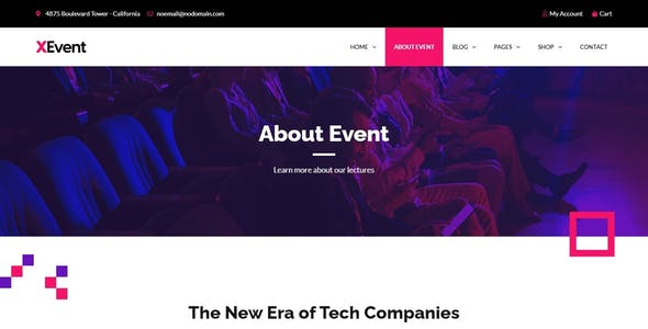 XEvent - Small Conference & Event Elementor Template Kit