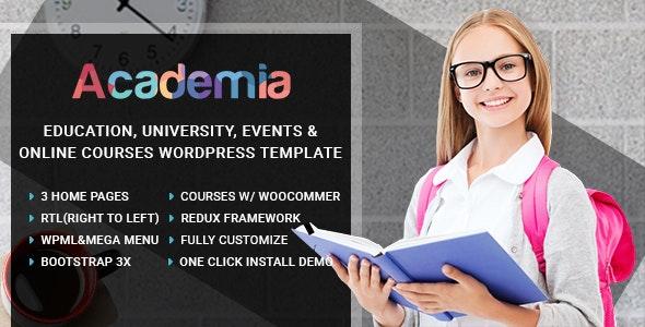 Academia v3.7 – Education Center WordPress Theme