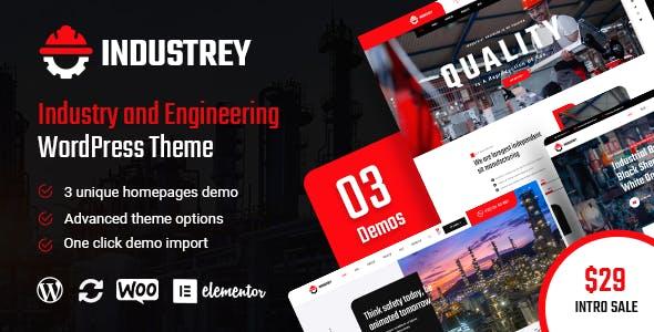 Industrey - Industry & Engineer WordPress Theme