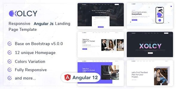 Xolcy - Angular Js Landing Page Template