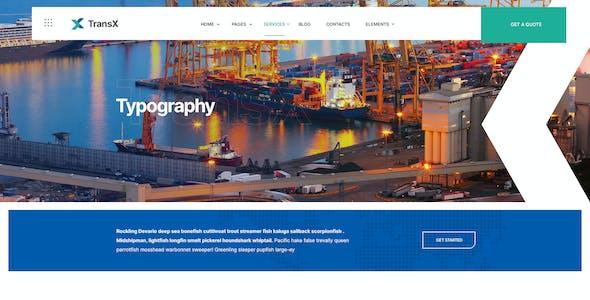 TransX   Transportation & Logistics WordPress Theme