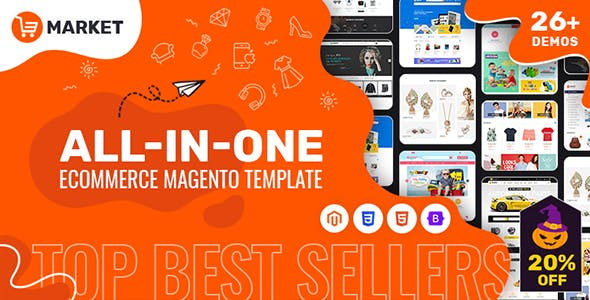 Market | All-in-One eCommerce Magento Theme (26+ Homepages, Mobile-Specific Layout)