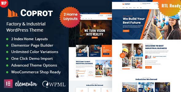 Coprot - Factory Industrial WordPress Theme