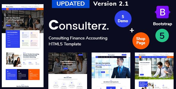 Consulterz - Consulting Finance Accounting + RTL Support Template