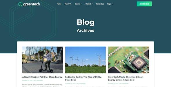 GreenTech - Green Technology Services Elementor Template Kit
