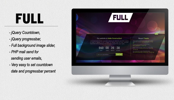 FULL - Coming Soon HTML/CSS Template - Creative Site Templates