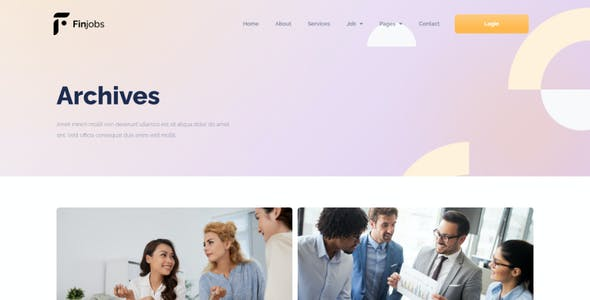 Finjobs - Human Resource Elementor Template Kit
