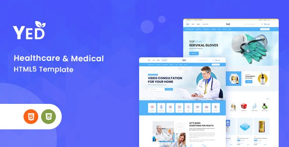 Yed - Pharmacy & Online Medical Store HTML Template