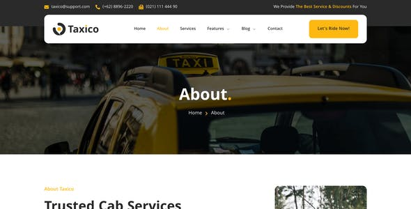 Taxico – Taxi Company & Online Cab Service Elementor Template Kit