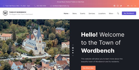 Wordbench - Municipal & Local Government WordPress Theme
