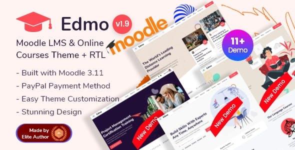Edmo - Moodle Education LMS & Online Courses Theme