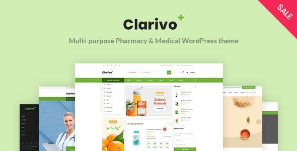 Clarivo - Pharmacy and Medical WordPress theme