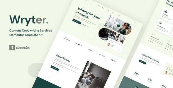 Wryter - Content Copywriting Services Elementor Template Kit