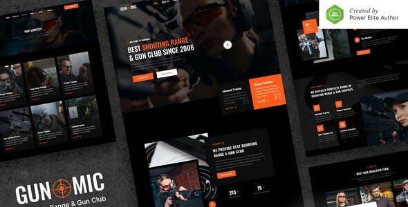 Gunomic – Shooting Range & Gun Club Elementor Template Kit