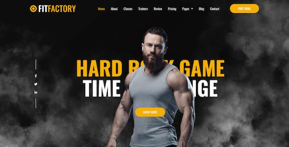 Fit Factory - Fitness Gym Elementor Template Kit