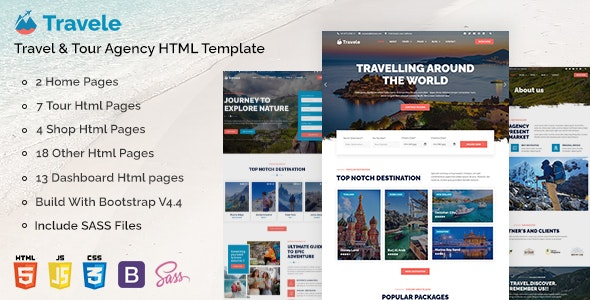 Travele – Travel & Tour Agency HTML Template - Travel Retail