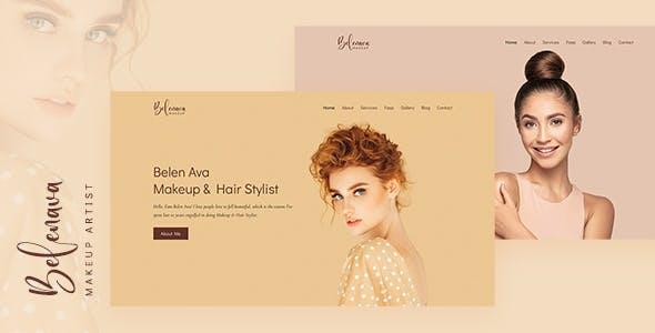 Belenava - Makeup Artist Template