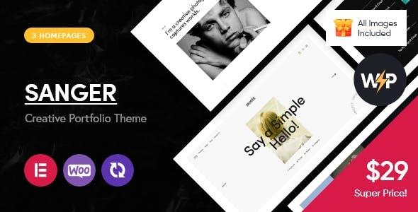 Sanger - Personal Portfolio for Creatives WordPress Theme