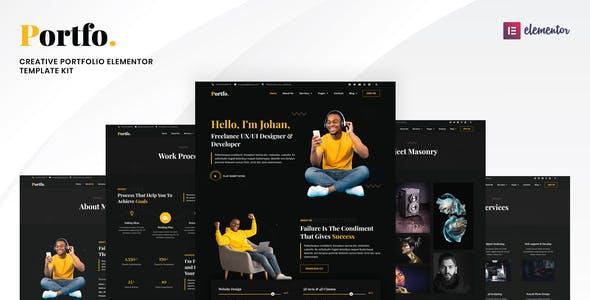 Portfo - Creative Portfolio Elementor Template Kit