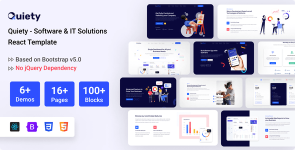 Quiety – Software & IT Solutions React Template