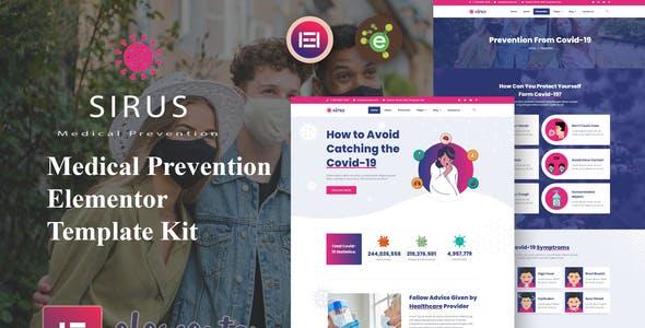 Sirus - Medical Prevention Elementor Template Kit
