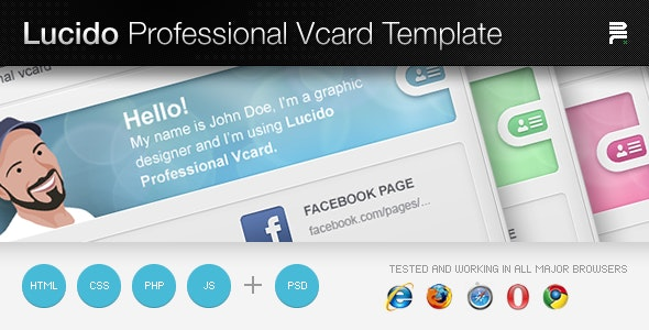 Lucido Professiona Vcard Template - Virtual Business Card Personal