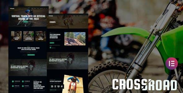Crossroad - Supercross Event & Community Elementor Template Kit