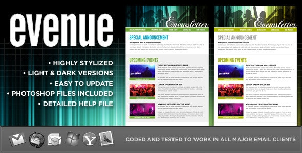evenue :: Custom email template - Newsletters Email Templates