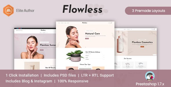 Flowless - Beauty & Cosmetics Prestashop Theme