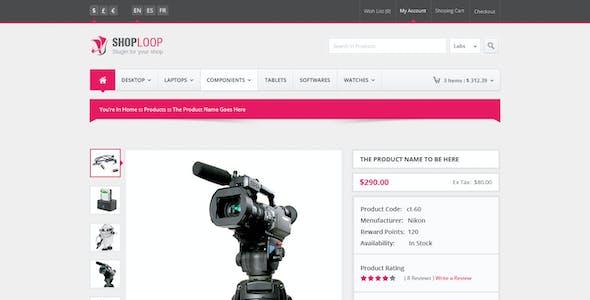 Shoploop: clean and modern open cart PSD